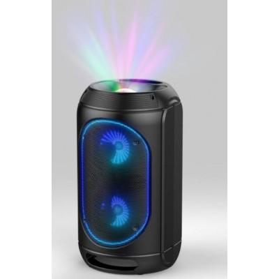 """6.5"""" Double Ring Light Speaker with Ball Light"""